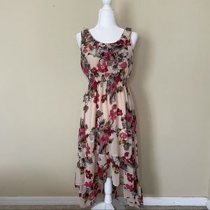 Forever XXI Floral Sleeveless High Low Dress